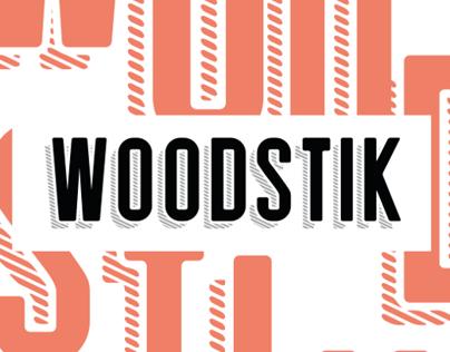 Woodstik font