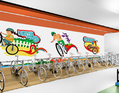 BSA Cycle Store - Environment Graphics