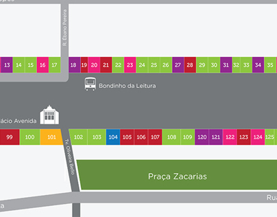 Mapa You Are Here da rua XV de Novembro