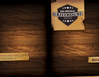 Grill Restaurant Menu template