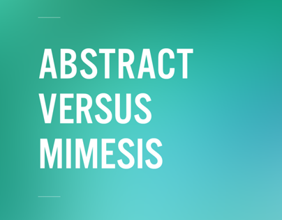 Abstract versus Mimesis