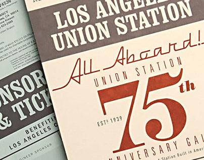 LA Union Station 75th Anniversary Event Branding