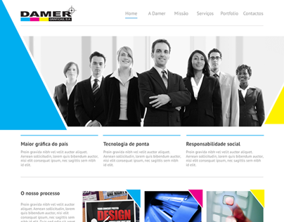 Website Damer Gráficas SA