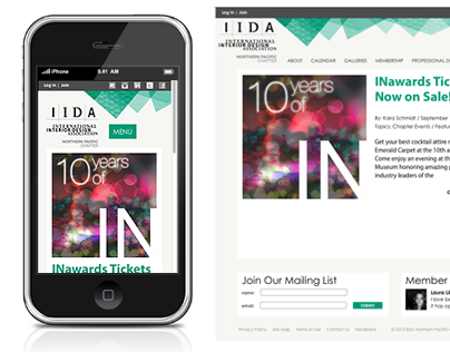 IIDA Website redesign