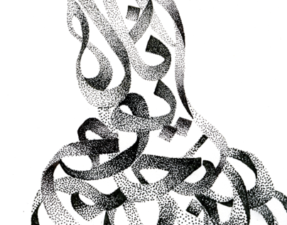 Zoomorphic Stipple Calligraphy
