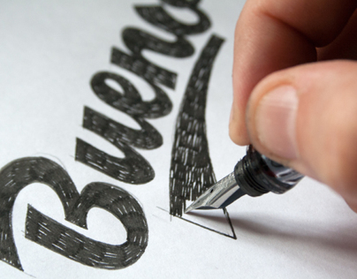 Calligraphy & Lettering Logos. Behind the scenes