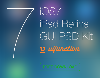 iOS 7 iPad Retina GUI PSD Kit