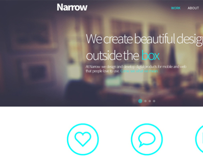 Narrow Web design progress
