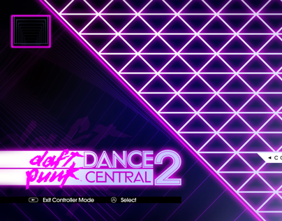 Dance Central 2: Daft Punk / UI Concept for Harmonix