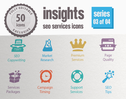 Insights SEO Services Icons - Series 03 of 04