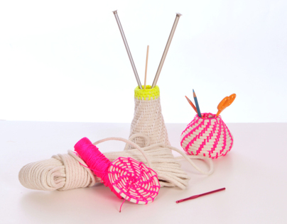 MAKING ROPE BASKETS