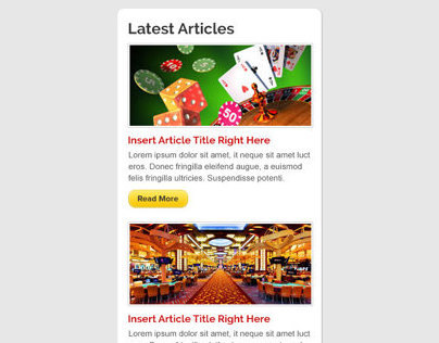 PSD Freebie: Latest Articles Feed