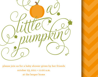Little Pumpkin Baby Shower Invite