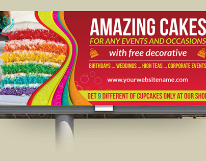 Cake Billboard Template Vol.4