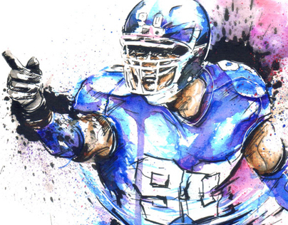 Jason Pierre-Paul Illustration for 500level.com 9.12.13