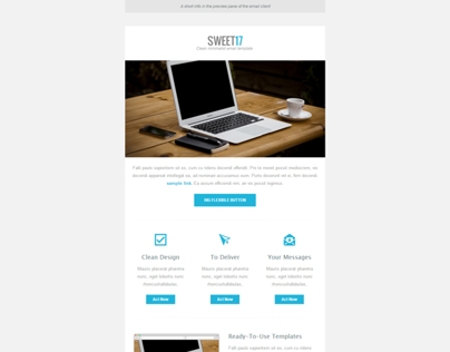 Sweet17 - Clean Minimalist Newsletter Template