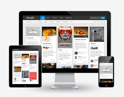 Pinable WordPress Theme Like Behance.net
