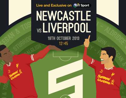 BT Sport - Newcastle v Liverpool Promotional Poster