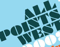 All Points West 2009 Music Festival Poster
