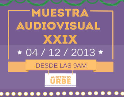 Motion Graphics: Muestra audiovisual URBE.