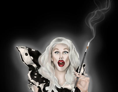 Sharon Needles Digital Painting