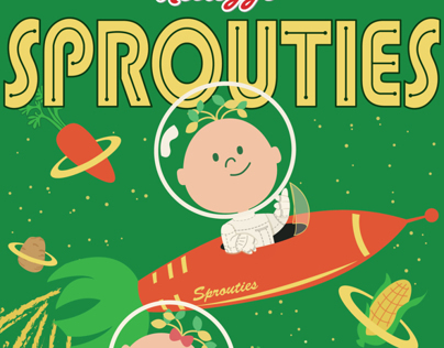 Sprouties Cereal Packaging design