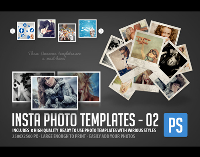 Insta Photo Templates 8 in 1