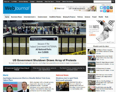 WebJournal WordPress Responsive General News Theme