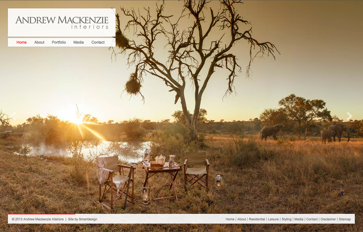 Design & Development of the Andrew Mackenzie Website