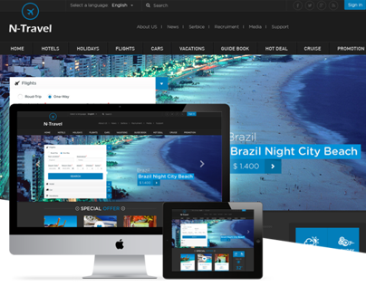 N-Travel - Psd Template
