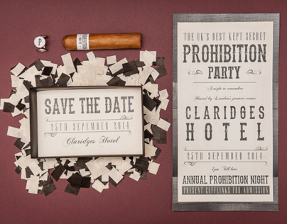 Secret Prohibition Party Invite