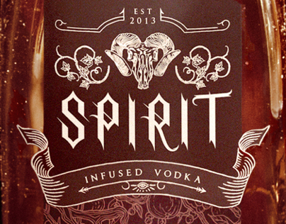 SPIRIT Halloween Vodka Branding