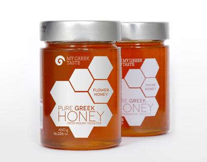 MY GREEK TASTE HONEY LABEL PACKAGING