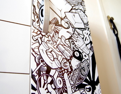 Illustration on the cabinet door (2009)