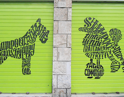 Rolldoor Calligrams for Pet Shop