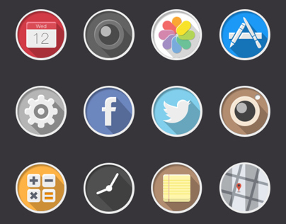 Rounded icons: iOS 7 redesigned icons