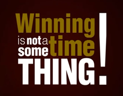 Winning is a Habit!