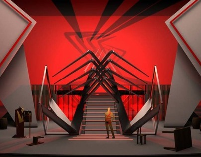 "Set design ""The Star and Death of Joaquin Murieta"""