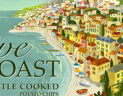 Olive Coast Potato Chips Packaging Art