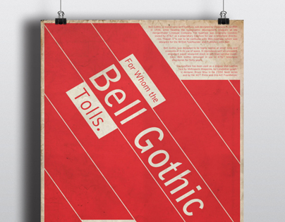 Poster Series: A Study in Typefaces
