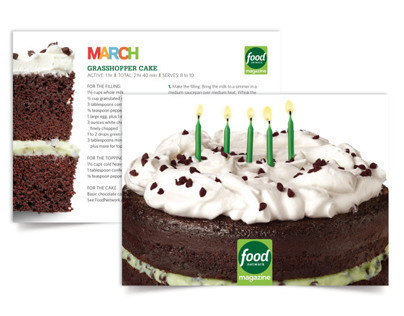 Food Network Magazine Birthday Cake Recipe Cards