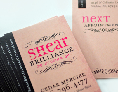 Shear Brilliance logo/business card design
