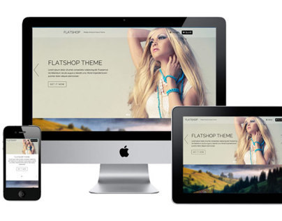 FlatShop WordPress Parallax WooCommerce Theme