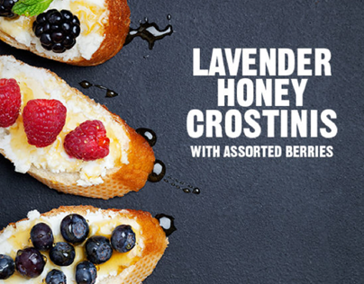 FOOD: Lavender Honey Crostini