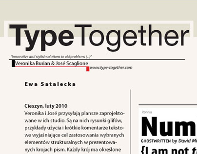 Type Together - Continuous Typesetting