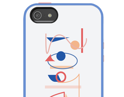 iPhone 5 Case- Typographic Abstraction