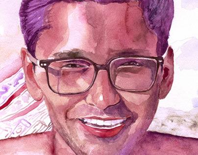 Watercolour portraits 2013