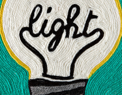 Light: wool drawing advertising illustration