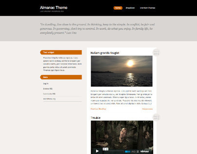 Almanac Free WordPress Responsive Theme