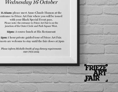 Frieze art fair - FT invitiation